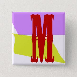 The Letter M Square Button