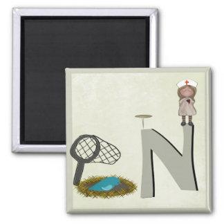 The Letter N Magnet