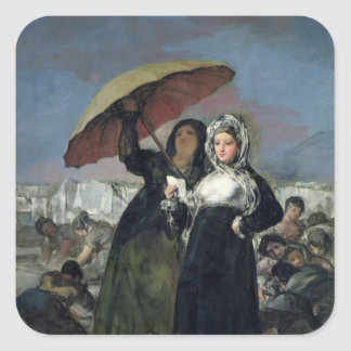 The Letter or, The Young Women, c.1814-19 Square Sticker