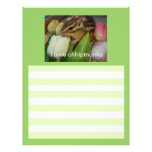 The letter paper of chipmunk customized letterhead