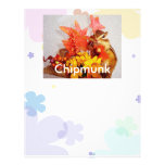 The letter paper of chipmunk letterhead template