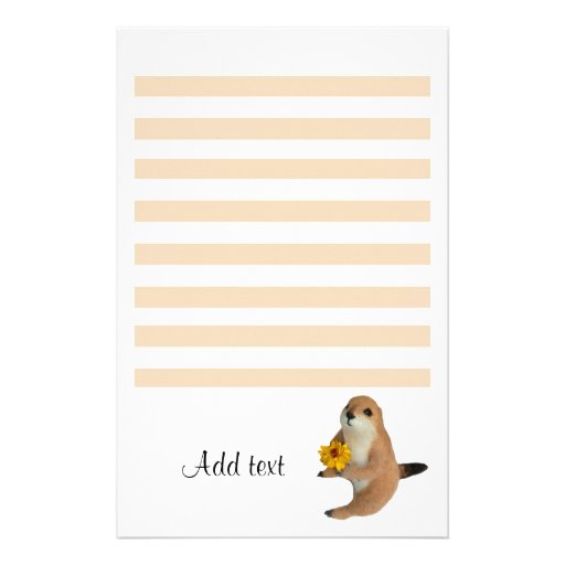 The letter paper of prairie dog stationery