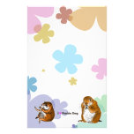 The letter paper of prairie dog stationery paper