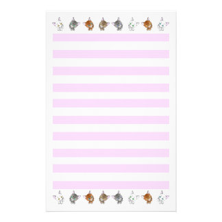 The letter paper of the cats stationery