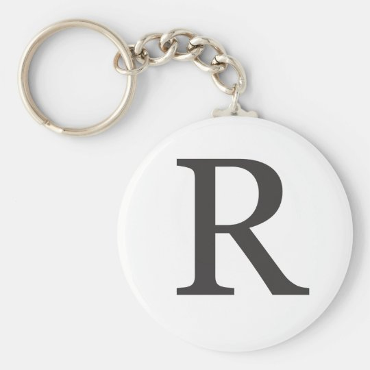 """the letter R"" Keychain"
