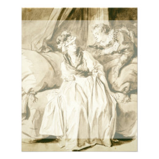 The Letter (Spanish Conversation) by Fragonard Flyer