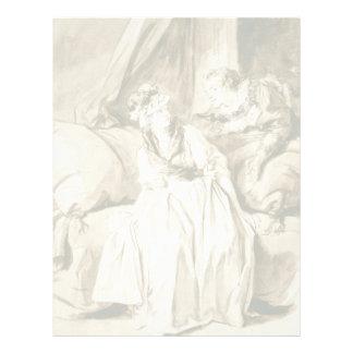 The Letter (Spanish Conversation) by Fragonard Letterhead