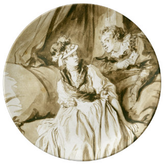 The Letter (Spanish Conversation) by Fragonard Porcelain Plates