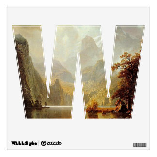 The Letter W - Alphabet Wall Decal - theletterw