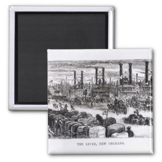 The Levee, New Orleans 2 Inch Square Magnet