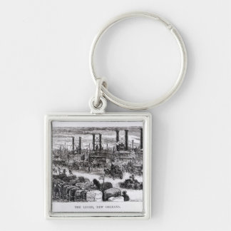 The Levee, New Orleans Key Chain