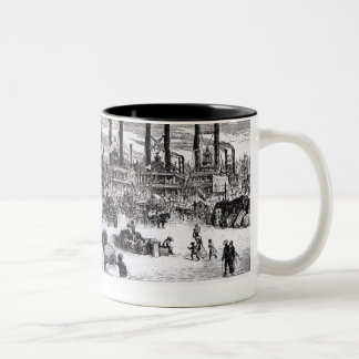 The Levee, New Orleans Two-Tone Coffee Mug