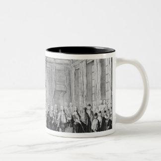 The Levee of King Louis XV Two-Tone Coffee Mug