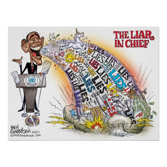 Persistence Motivational Quotes: The Liar In Chief Obama Poster