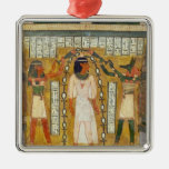 The Libation of the Dead Square Metal Christmas Ornament