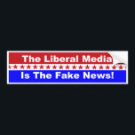"The Liberal Media is the Fake News bumper sticker<br><div class=""desc"">The Liberal Media is the fake news popular bumper sticker.</div>"