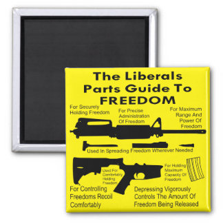 The Liberals Parts Guide To Freedom Magnet