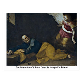 The Liberation Of Saint Peter By Jusepe De Ribera Post Card