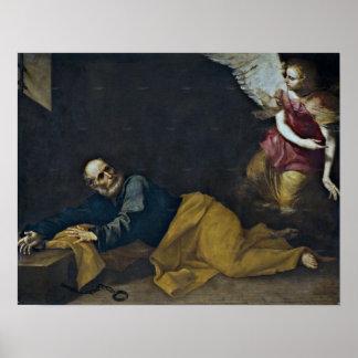 The Liberation of Saint Peter by Jusepe de Ribera Poster