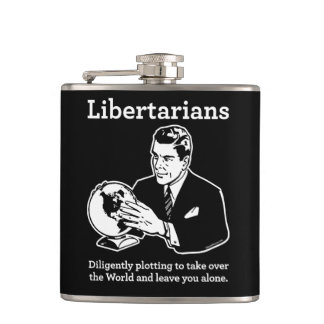 The Libertarian Plot Hip Flask