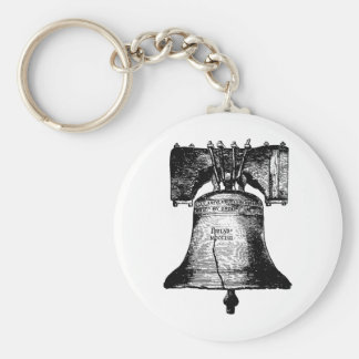 The Liberty Bell Basic Round Button Keychain