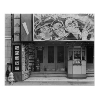 The Liberty Theatre, 1935. Vintage Photo Poster