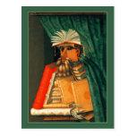 The Librarian by Giuseppe Acrimoldo Post Card