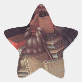 The Librarian by Giuseppe Arcimboldo Star Sticker