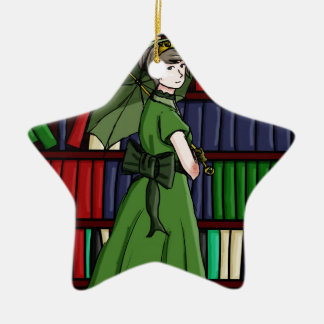 The Librarian Ceramic Ornament