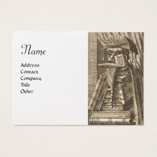 THE LIBRARIAN ,Gold Metallic Paper Business Card