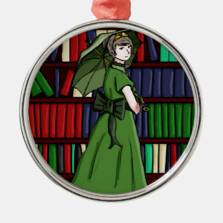 The Librarian Metal Ornament