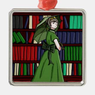 The Librarian Silver-Colored Square Decoration