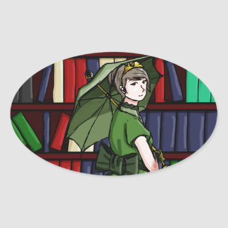 The Librarian Oval Sticker