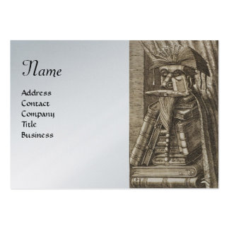 THE LIBRARIAN ,Silver Platinum Metallic Paper Business Card