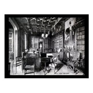 The Library, Abbotsford, Scotland Vintage Postcard