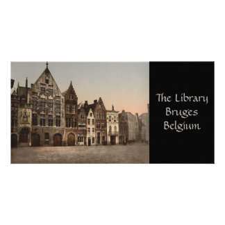 The Library, Bruges, Belgium Photo Card