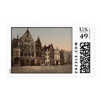 The Library, Bruges, Belgium Postage