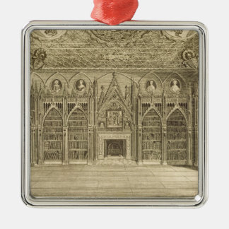 The Library, engraved by Godfrey, from 'Descriptio Metal Ornament