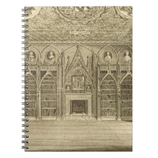 The Library, engraved by Godfrey, from 'Descriptio Note Book