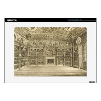 The Library, engraved by Godfrey, from 'Descriptio Skins For Laptops