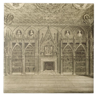The Library, engraved by Godfrey, from 'Descriptio Tile