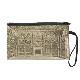 The Library, engraved by Godfrey, from 'Descriptio Wristlet Purse