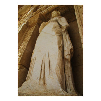 The library of Celsus, STATUE  -  POSTER