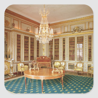 The library of Louis XVI  decorated in 1781 Square Sticker