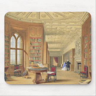 The Library, Windsor Castle, 1838 (colour litho) Mouse Pad