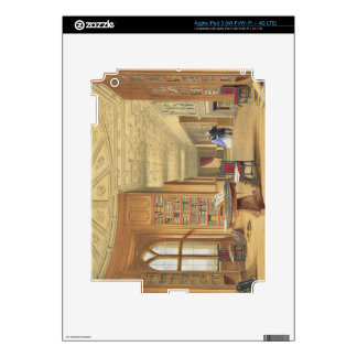 The Library, Windsor Castle, 1838 (colour litho) iPad 3 Skin