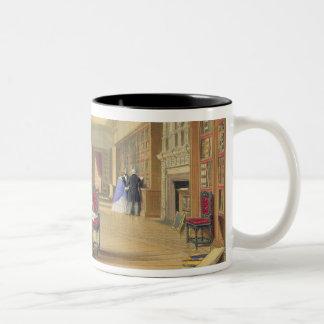 The Library, Windsor Castle, 1838 (colour litho) Two-Tone Coffee Mug
