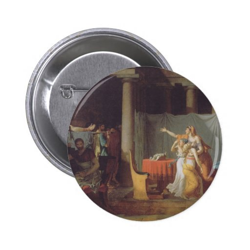 The Lictors Bring To Brutus The Bodies Of His Sons 2 Inch Round Button