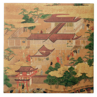 The Life and Pastimes of the Japanese Court, Tosa Ceramic Tile