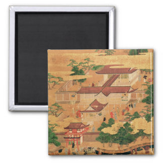 The Life and Pastimes of the Japanese Court, Tosa 2 Inch Square Magnet
